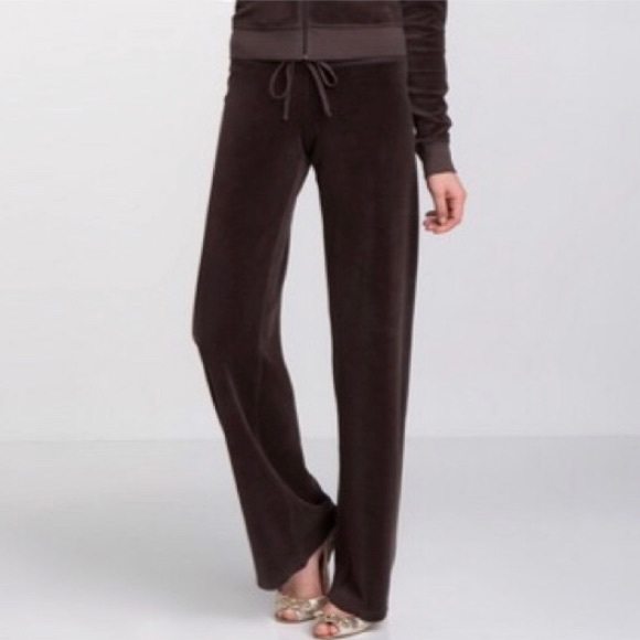 3220df6ad90e Juicy Couture Pants - Juicy Couture Velour Terry Brown Pants Tie Waist